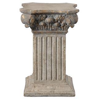 Alben Aged Ivory Plinth Pedestal