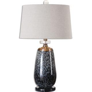 Vergato Charcoal Glass Table Lamp