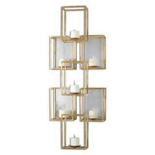 Ronana Mirrored 7-light Candleholder Wall Sconce