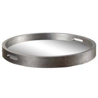 Link to Bechet Round Silver Wooden Tray Similar Items in Accent Pieces