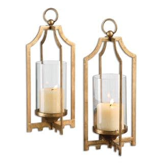 Lucy Gold Candleholders (Set of 2)