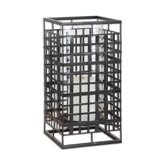 Caged In Metal Candleholder