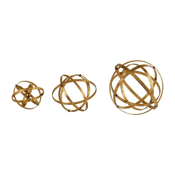 Stetson Gold Spheres (Set of 3). Opens flyout.