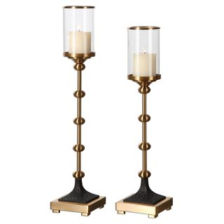 Santona Brass Candleholders (Set of 2)