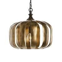 Zucca 1-light Antique Gold Pendant