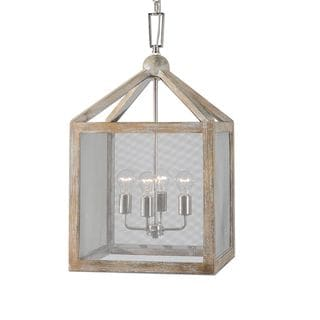 Nashua 4-light Wooden Lantern Pendant