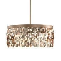 Tillie 3-light Textured Gold Pendant