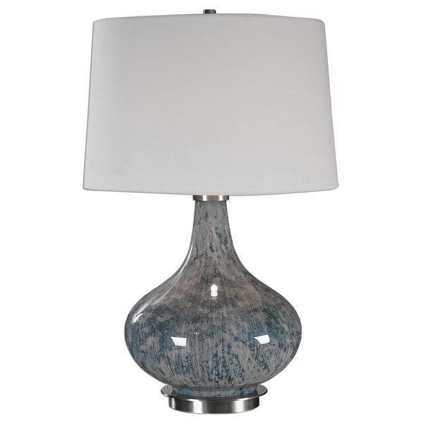 Celinda Blue Gray Glass Lamp