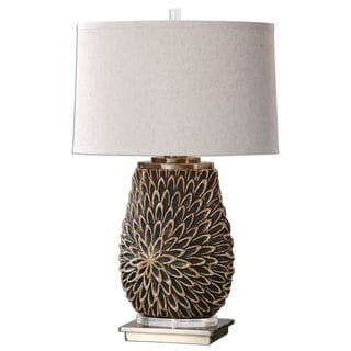 Verzino Beige Dark Rust Lamp