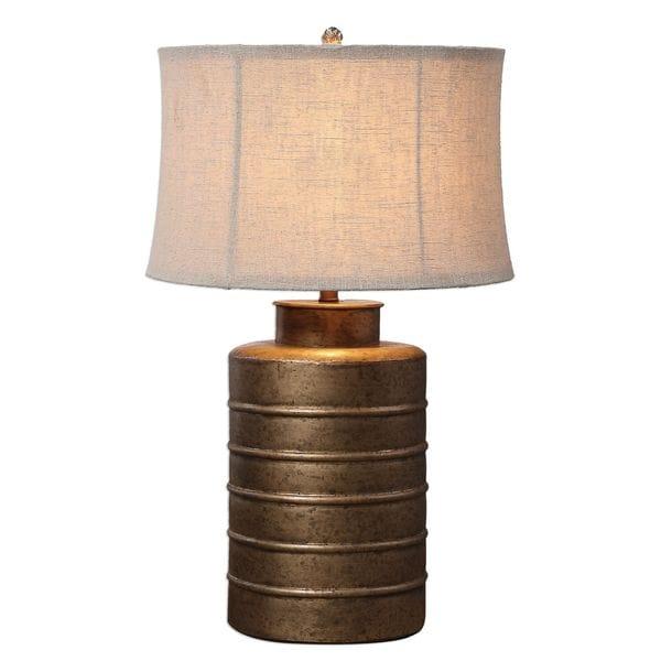 Antiqued Gold Bamiro Lamp