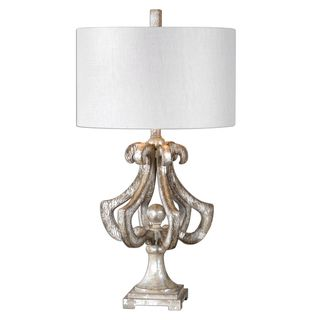 Vinadio Distressed Silver Table Lamp