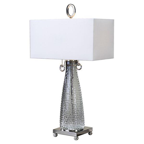 Ostola Smokey Glass 2-light Lamp