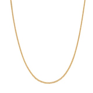Decadence 14k Gold Square Wheat Chain