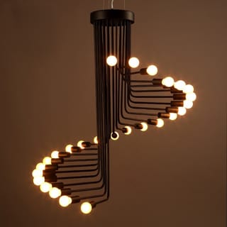 Link to Jack 20-light Black 28-inch Edison Chandelier with Light Bulbs Similar Items in Chandeliers