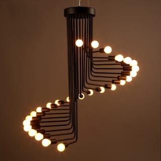 Jack 20-light Black 28-inch Edison Chandelier with Light Bulbs