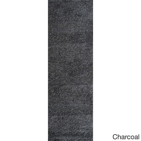 """Sweet Home Cozy Shag Collection Shaggy Runner Rug (2'7""""X8')"""