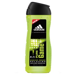 Adidas Pure Game Guaiac Wood Relaxing 2-in-1 Hair and Body Shower Gel