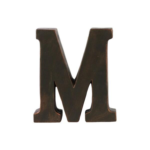 Dark bronze fiberstone oil rubbed alphabet 39m39 tabletop for Oil rubbed bronze letters