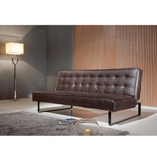 Corvus Espresso Folds to a Bed Sofa with Stainless Steel Legs