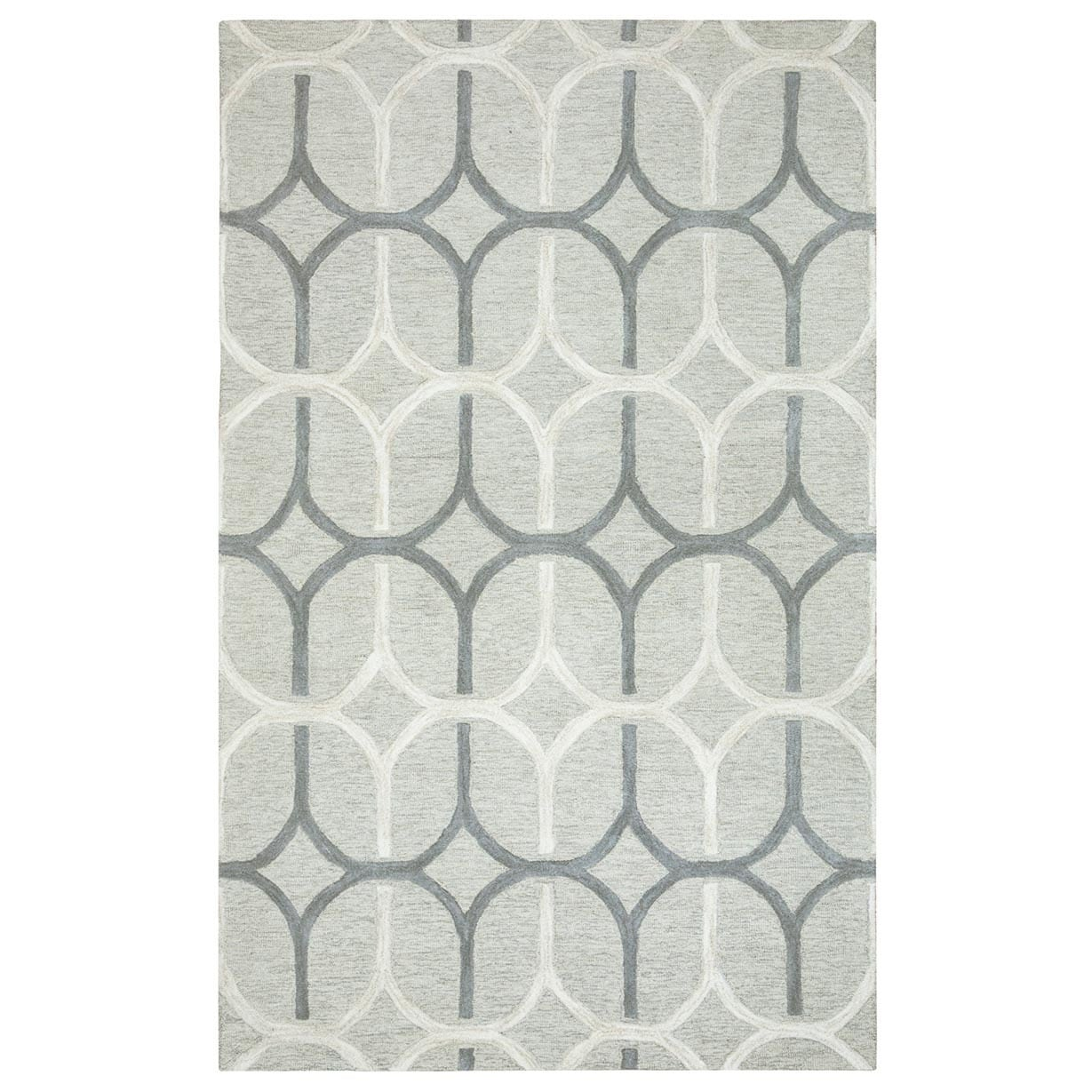 Rizzy Home Caterine Collection CE9653 Area Rug (9x 12) - 9 x 12 (9 x 12 - Grey/Off-White)