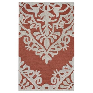 Rizzy Home Caterine Collection CE9724 Red Area Rug (9'x 12')