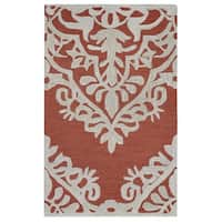 Rizzy Home Caterine Collection CE9724 Red Area Rug - 9'x 12'