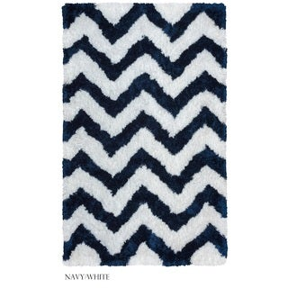 Rizzy Home Commons Collection Chevron Patterened Accent Rug (3'6 x 5'6)