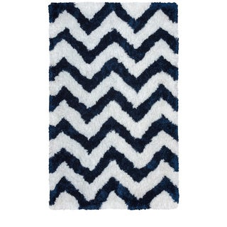 Rizzy Home Commons Collection Chevron Patterened Area Rug (8'x10')