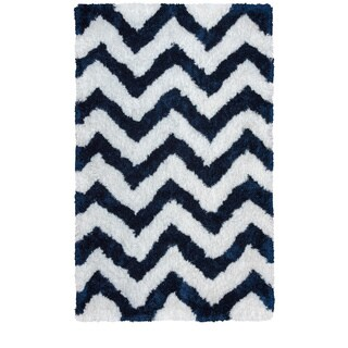 Rizzy Home Commons Collection Chevron Patterened Area Rug (8'x10') - 8' x 10'