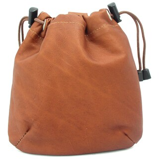 Piel Leather Drawstring Golf Pouch