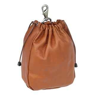 Piel Leather Large Drawstring Pouch (2 options available)