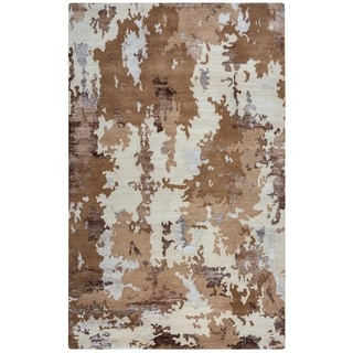 Rizzy Home Avant-Garde Collection AG2760 Beige and Camel Area Rug (5'6 x 8'6)