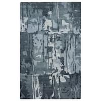Rizzy Home Avant-Garde Collection AG8686 Blue and Grey Area Rug (9'x 12') - 9' x 12'