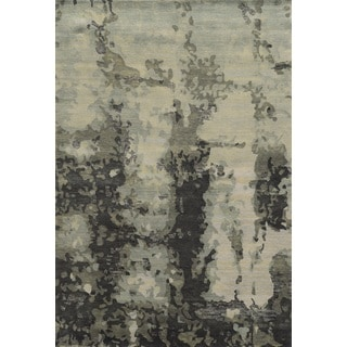 Rizzy Home Avant-Garde Collection AG8794 Black and Grey Accent Rug (3'6 x 5'6)