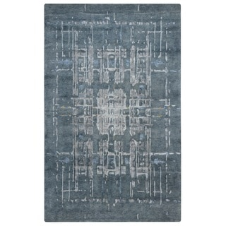 Rizzy Home Avant-Garde Collection AG8796 Grey and Blue Accent Rug (2' x 3')