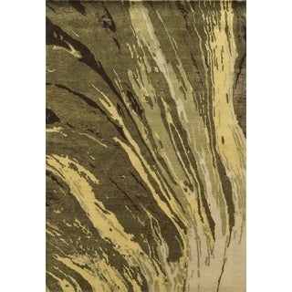 Rizzy Home Avant-Garde Collection AG8927 Beige and Brown Area Rug (9'x 12')