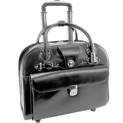 """McKlein Edgebrook Rolling 15-inch Laptop Briefcase - 17""""L x 6""""W x 13.5""""H"""