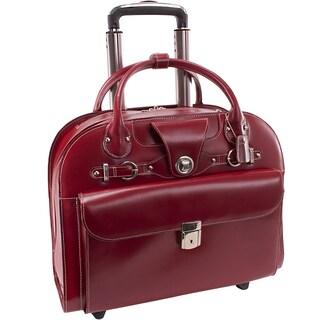 McKlein Edgebrook Rolling 15.6-inch Laptop Briefcase