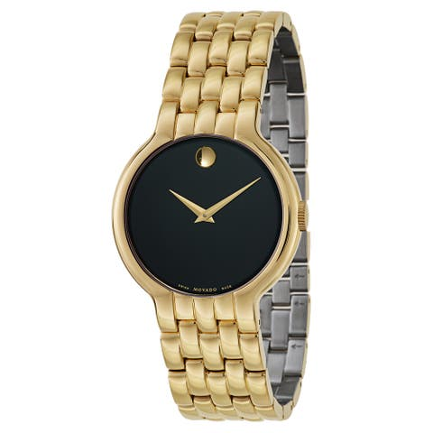 Movado Men's 0606934 'Vetur ' Gold-Tone Stainless Steel Watch