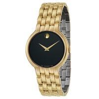 Movado Men's Veturi Goldplated Small Link Bracelet Watch