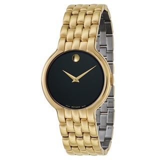 Movado Men's 0606934 Veturi Goldplated Small Link Bracelet Watch