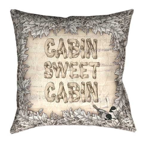 Laural Home Cabin Decorative 18-inch Throw Pillow