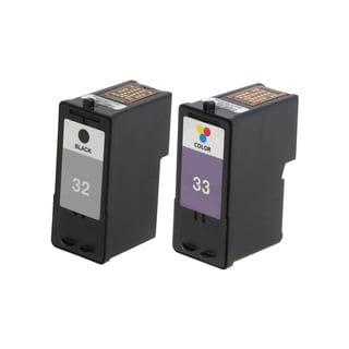 2 Pack Lexmark 18C0032 #32 18C0033 #33 Compatible Ink Cartridge For Lexmark Z810 Z812 ( Pack of 2 )