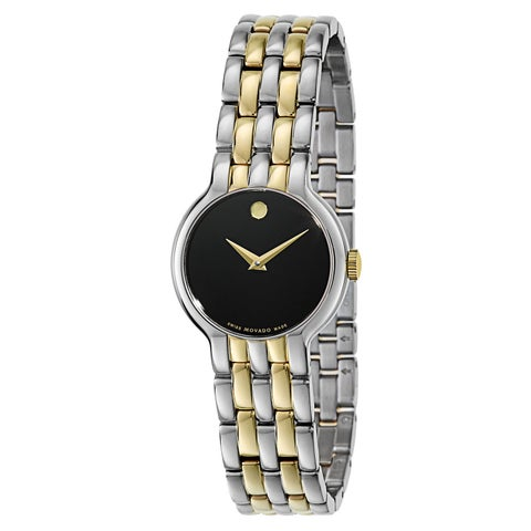 Movado Women's Veturi Two-tone Stainless Steel Black Dial Watch