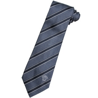 Versace 100-percent Italian Silk Grey Stripe Neck Tie