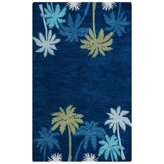 Rizzy Home Cabot Collection CA9462 Navy Blue Area Rug (8'x 10')