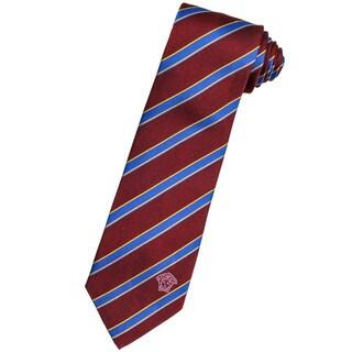 Versace 100-percent Italian Silk Oxblood Stripe Neck Tie
