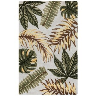 Rizzy Home Cabot Collection CA9463 Ivory and Sage Area Rug (8'x 10')