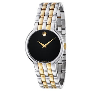 Movado Men's Veturi Two-tone Stainless Steel Black Dial Gold-Tone Hands Watch
