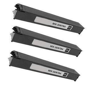 3PK Compatible MX-36NTBA Toner Cartridge For Sharp MX 2610 2610N 2615 2640N 3110N 3115N 3140N 3610N ( Pack of 3 )